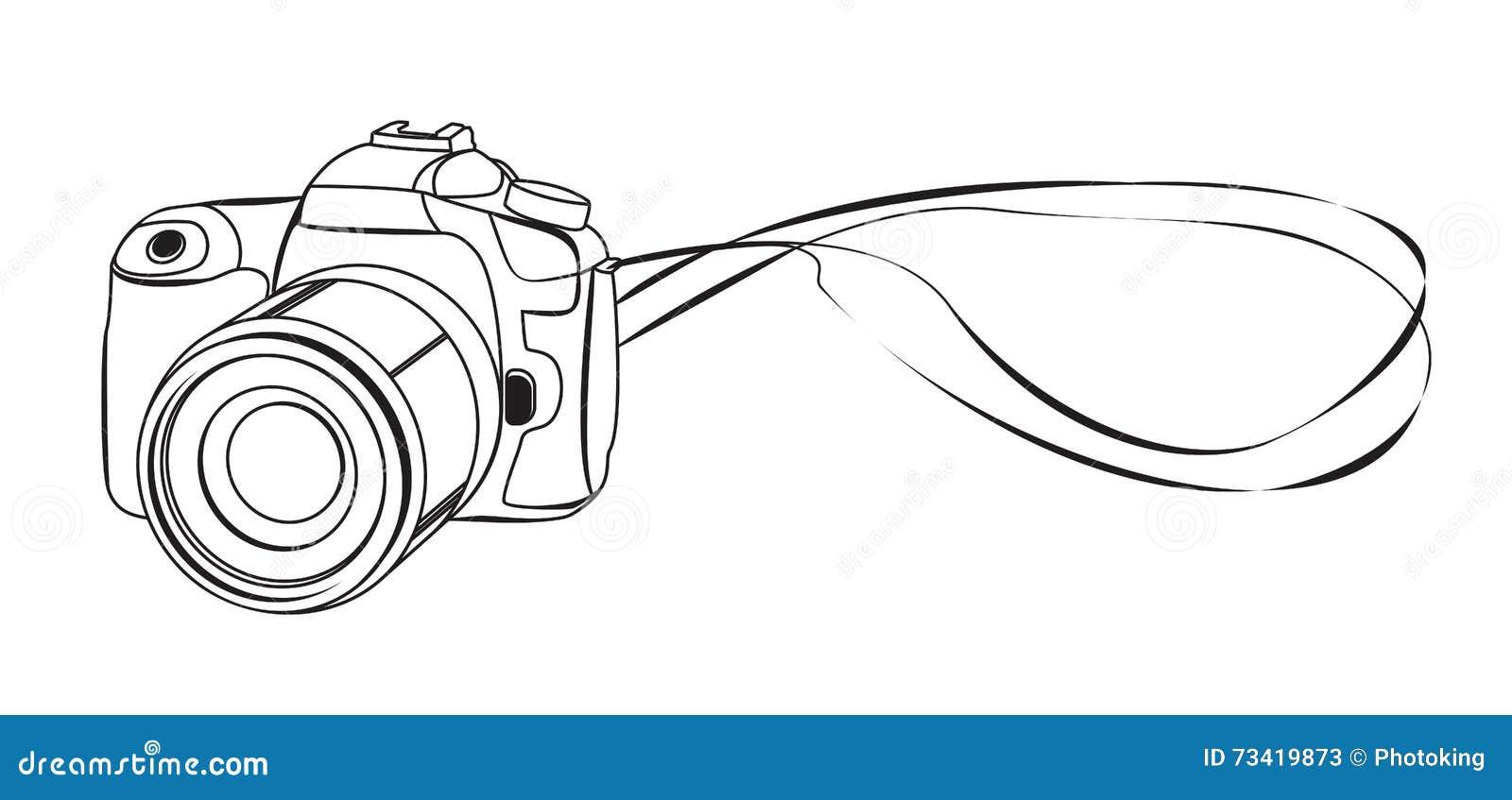 Рисунок фотоаппарат вектор