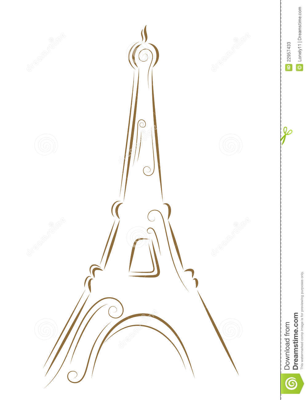 sketch of the eiffel tower stock vector image of eiffel 22957433. Black Bedroom Furniture Sets. Home Design Ideas