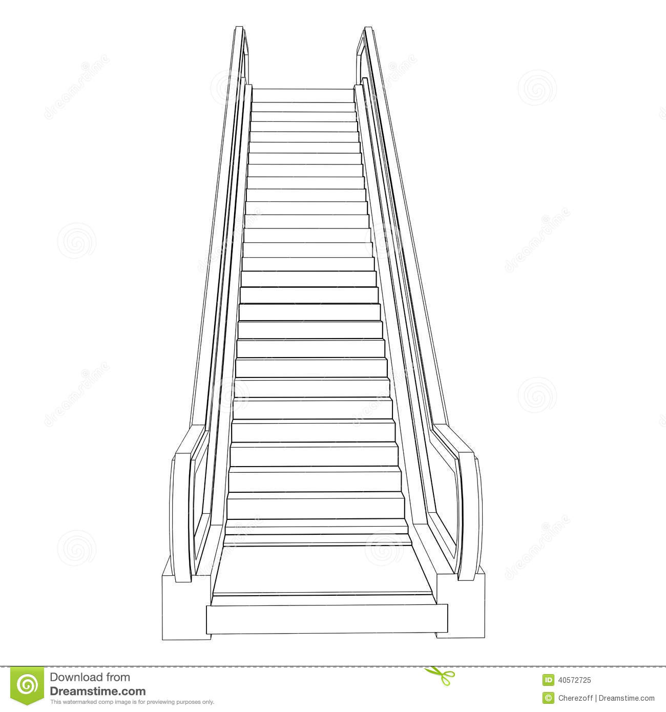 escalator colouring pages sketch coloring page