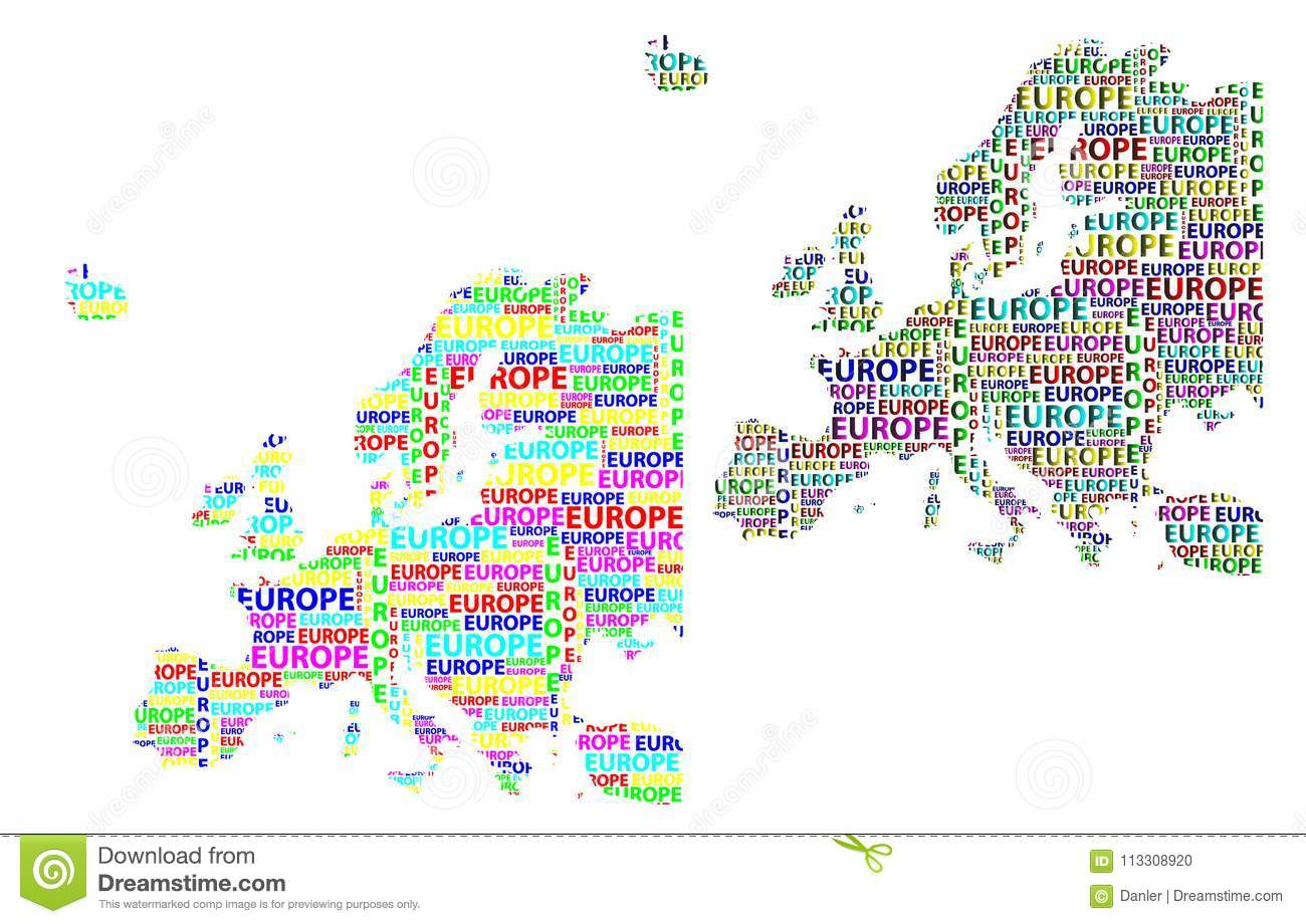 Map of continent europe vector illustration stock vector map of continent europe vector illustration gumiabroncs Images