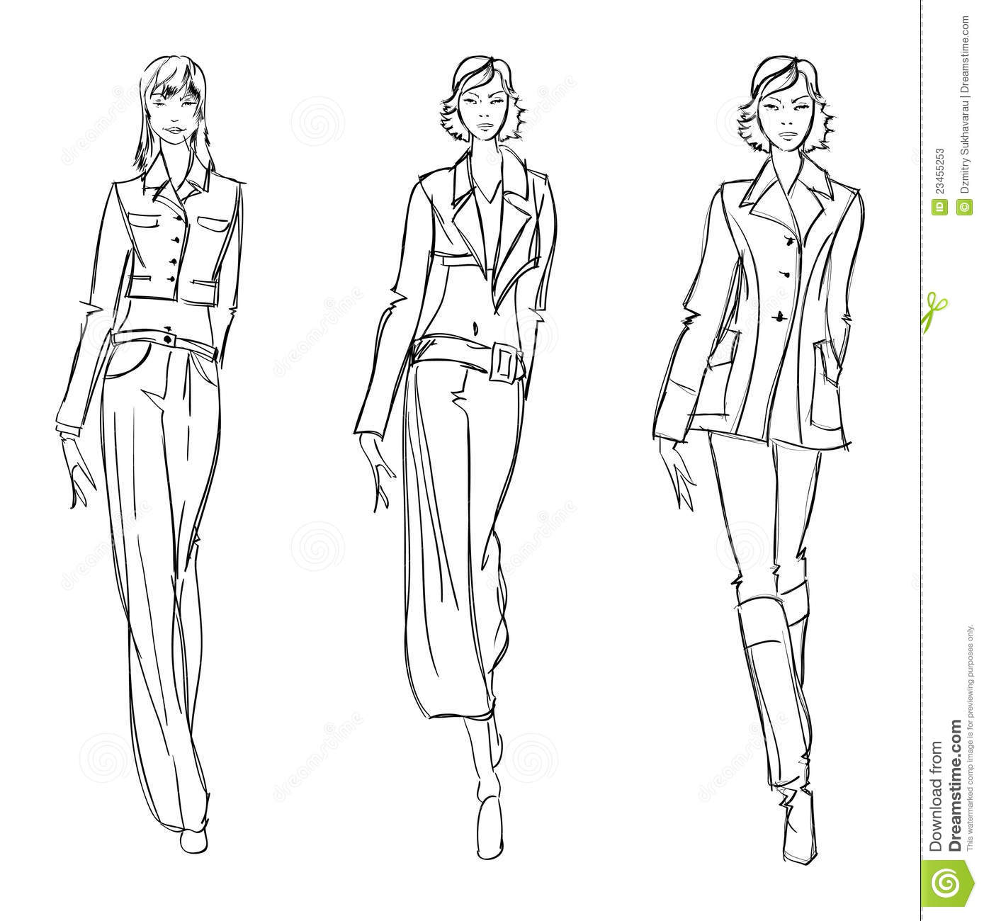 Sketch Fashion Girl Stock Vector Illustration Of Lady 23455253