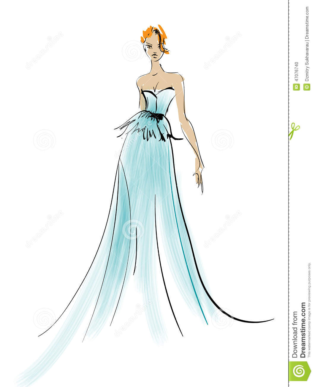 Sketch Fashion Girls Stock Vector Image 47076740