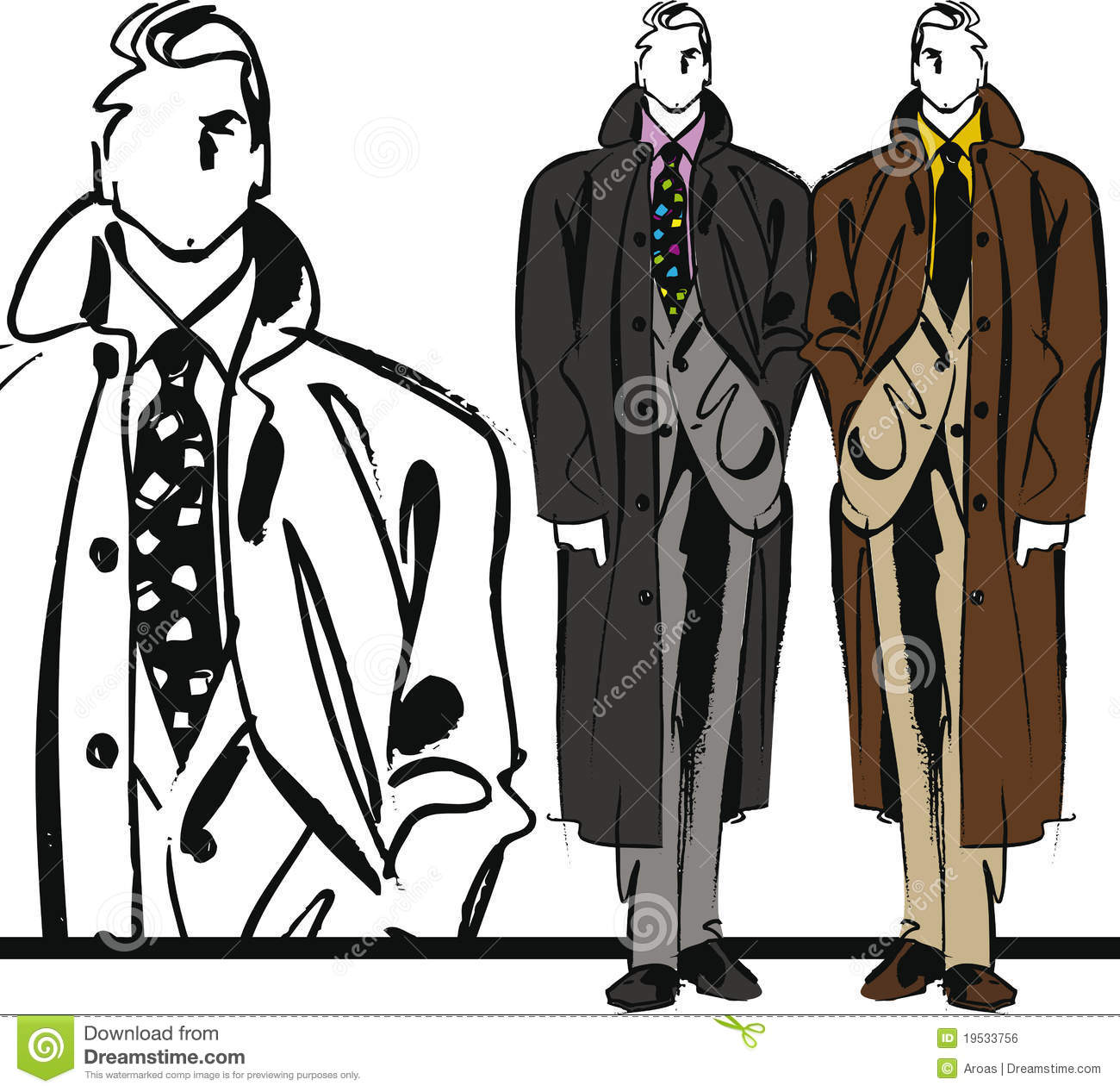 Clothing Design Illustrator handsome man illustration