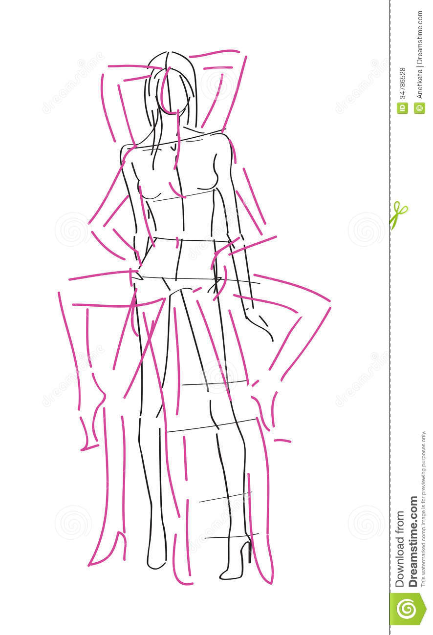 Sketch Fashion Poses Royalty Free Stock Photos Image