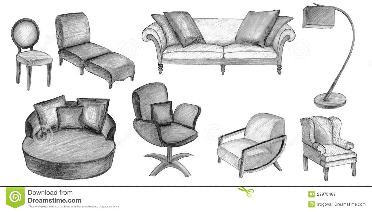 Sketch Furniture Royalty Free Stock Images - Image: 29978489