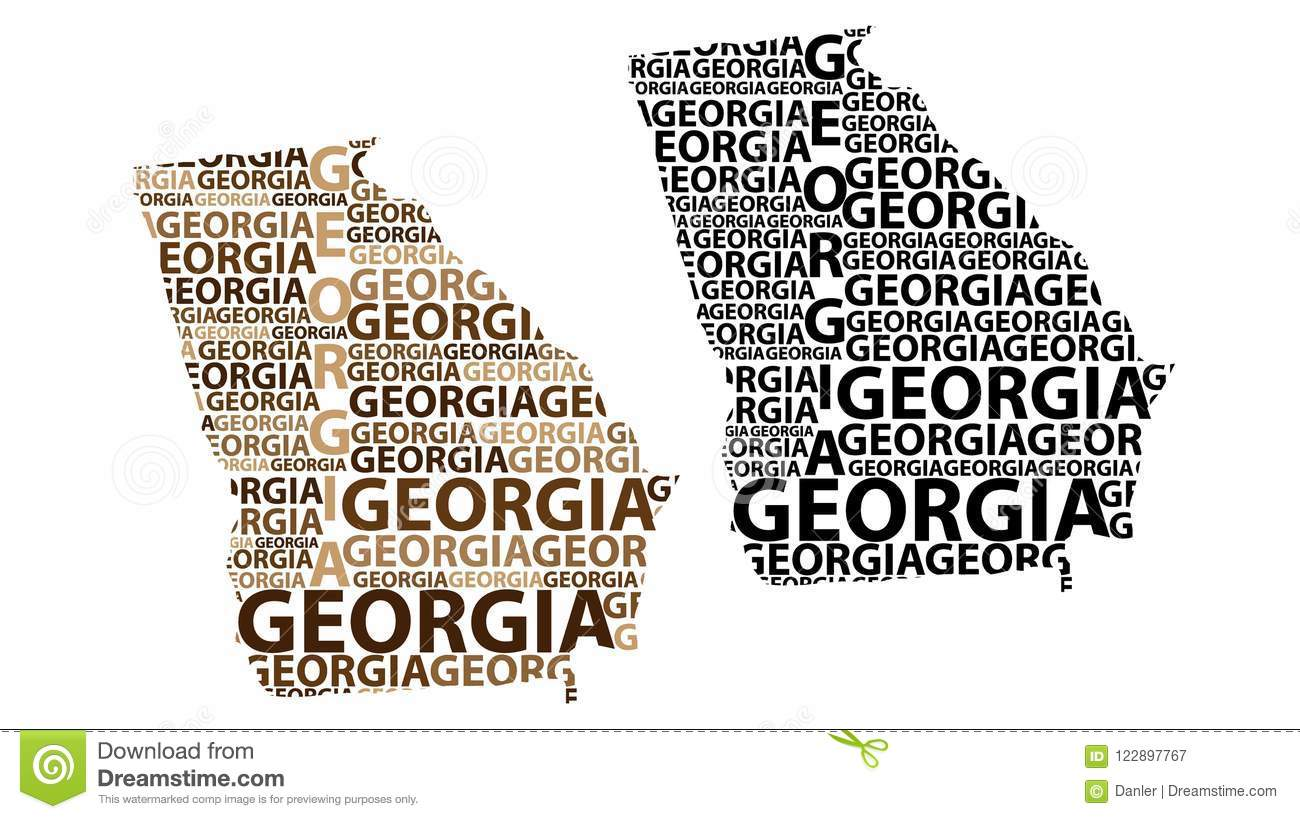 Map Of Georgia U S State Vector Illustration Stock Vector