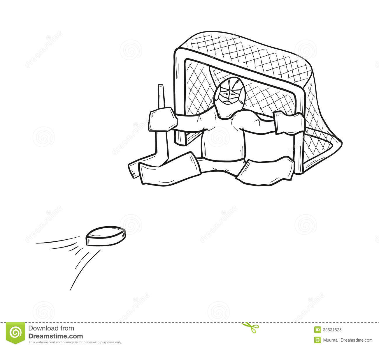 Sketch Of The Goalkeeper Royalty Free Stock Photo