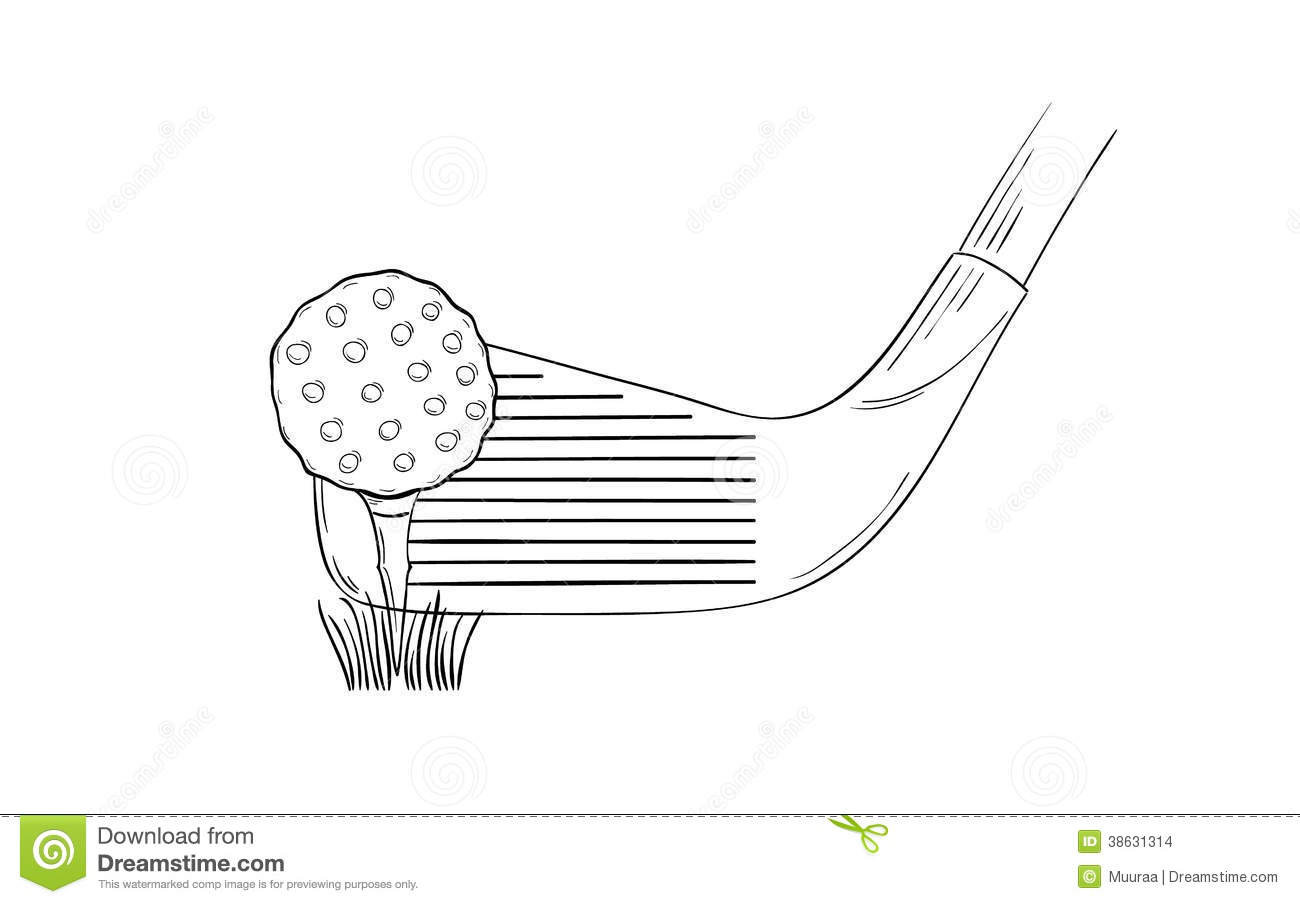 how to draw a golf club