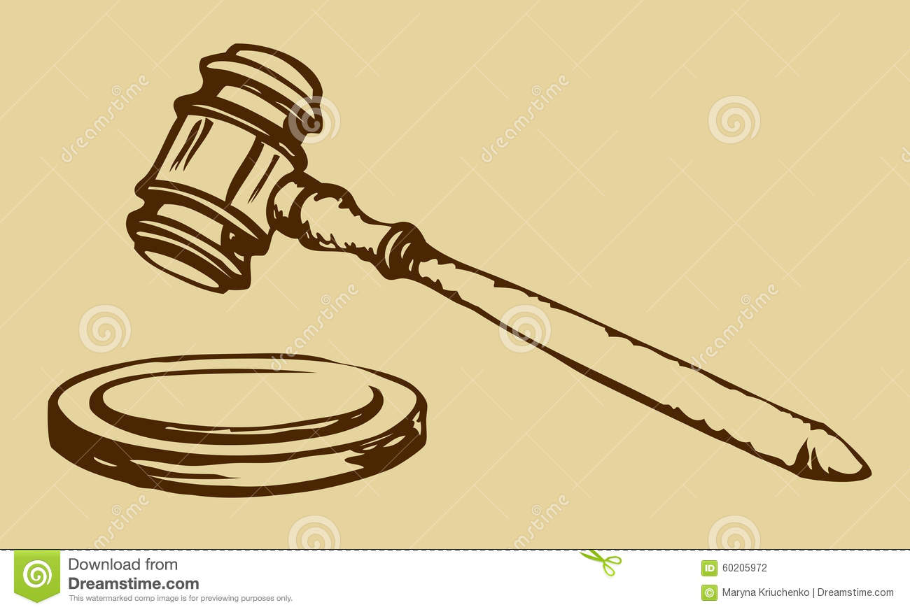 sketch of hammer of judge stock vector image 60205972 gavel clipart images gavel clipart public domain