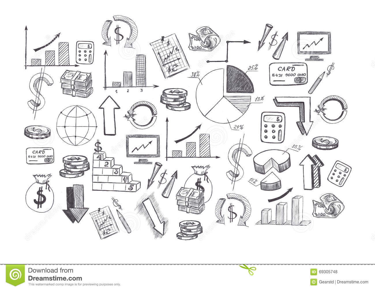 sketch of hand drawn graphics pictures and diagrams related to rh dreamstime com hand drawn diagram tool online hand drawing diagram