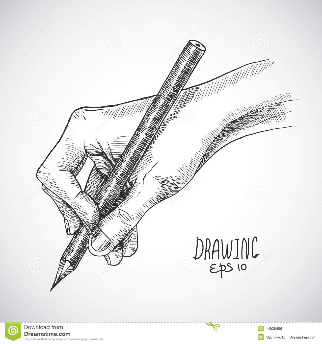 Pencil Architectural Illustration : Sketch hand pencil stock vector image