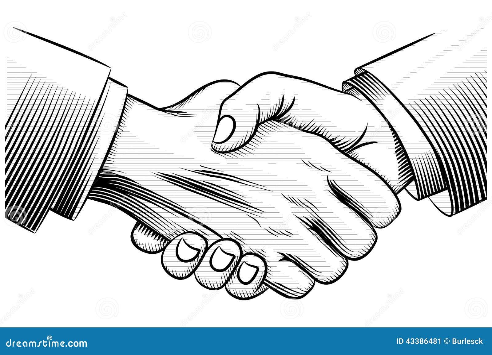 Sketch Handshake Stock Vector Image 43386481