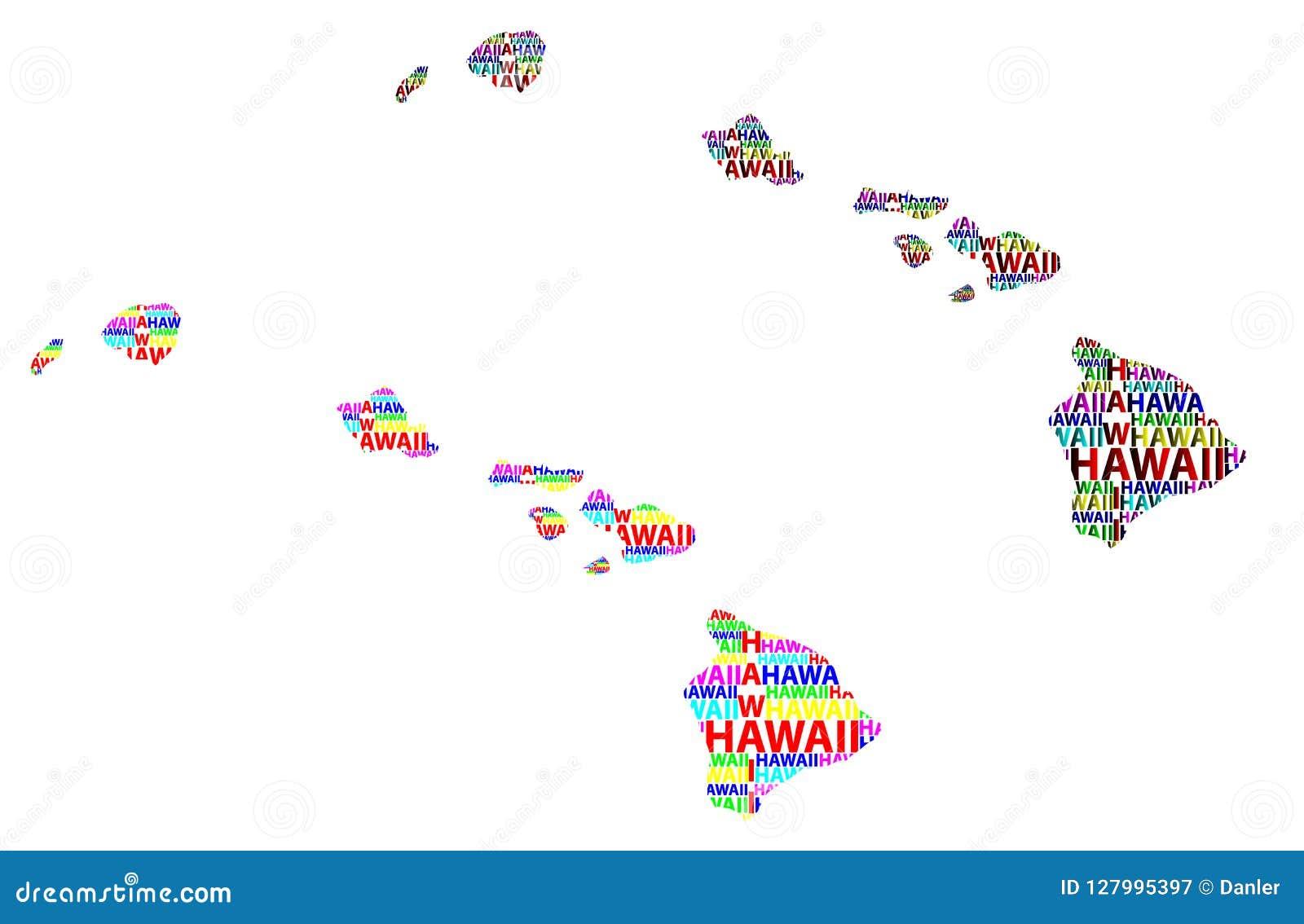Map Of Hawaii Vector Illustration Stock Vector Illustration Of