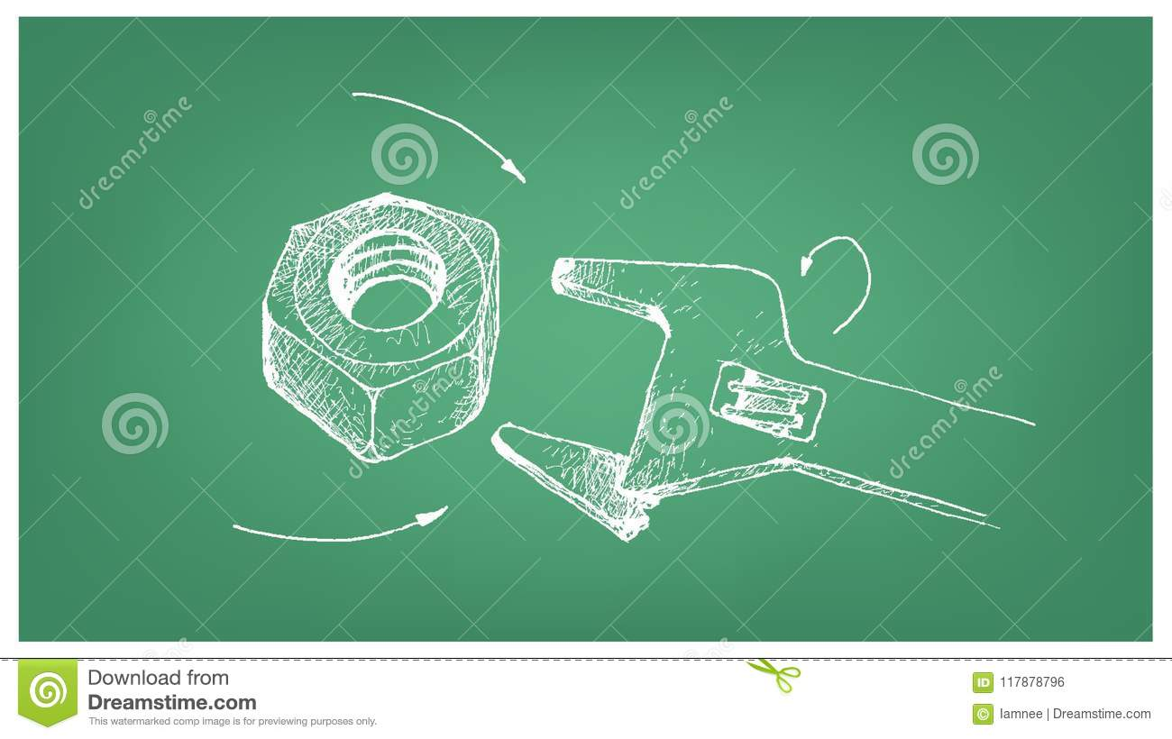 Sketch of heavy hex nut and on blueprint stock vector illustration download sketch of heavy hex nut and on blueprint stock vector illustration of gear malvernweather Choice Image