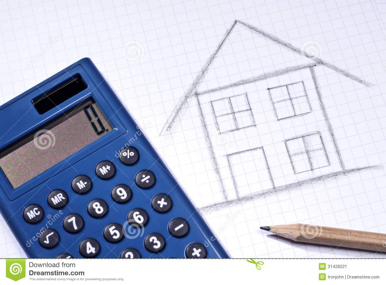Cost Of House Building Stock Image Image 31428221