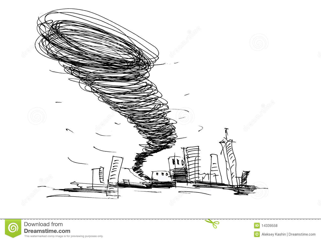 sketch of the hurricane royalty free stock photos image