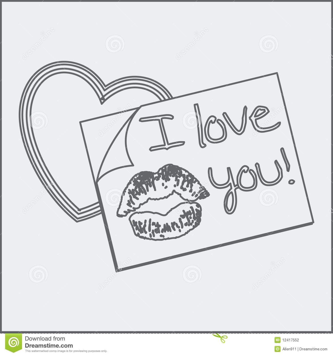 i love you heart drawings - photo #9