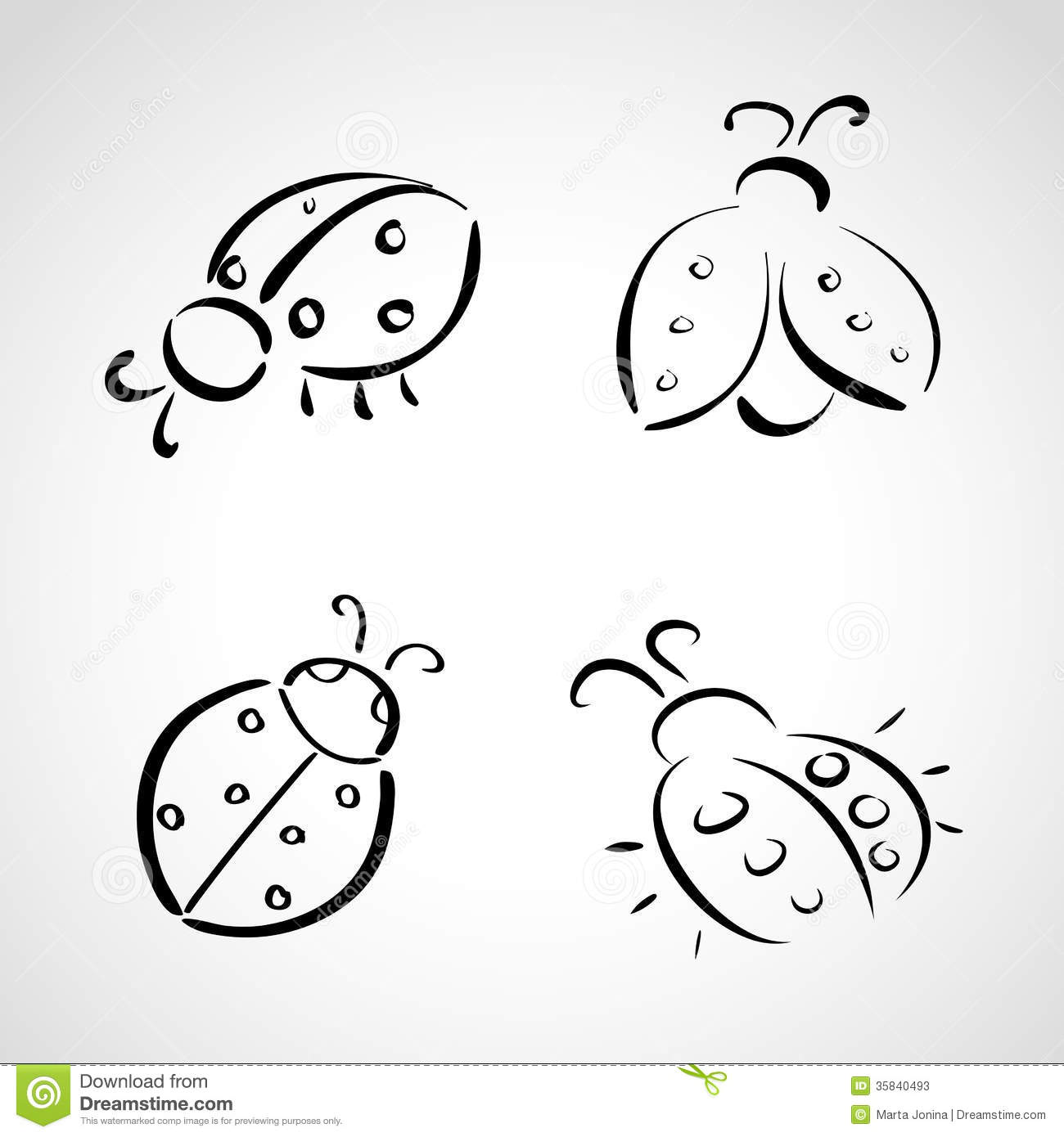 Sketch Icons - Ladybug Stock Photos - Image: 35840493