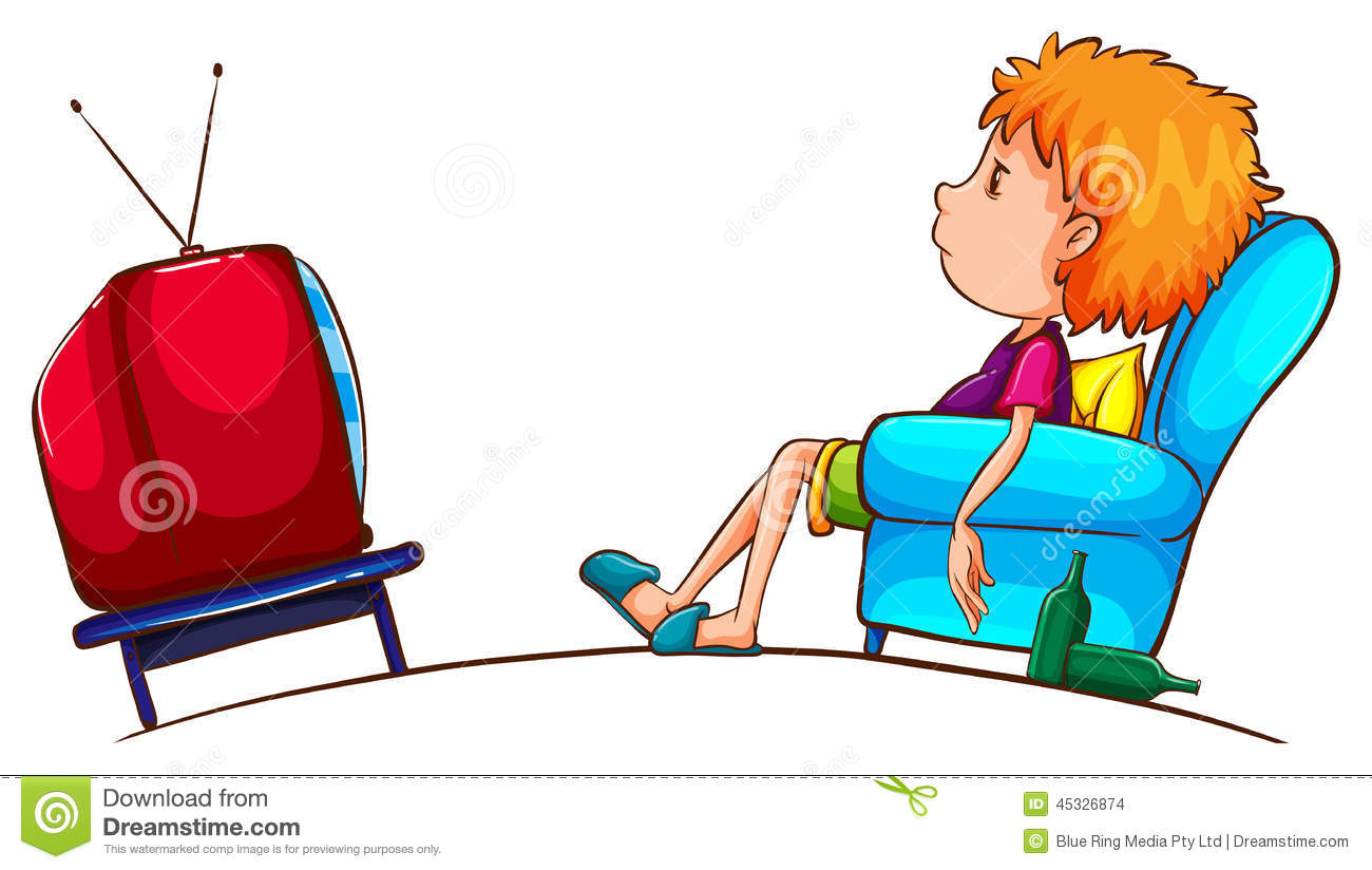 clipart boy watching tv - photo #20