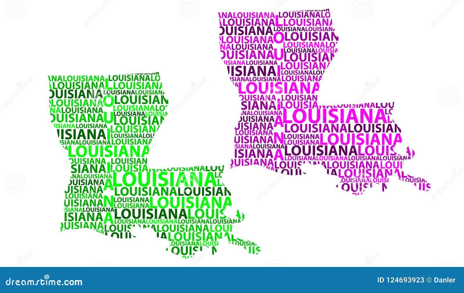 United States Map Louisiana.Map Of Louisiana Vector Illustration Stock Vector Illustration