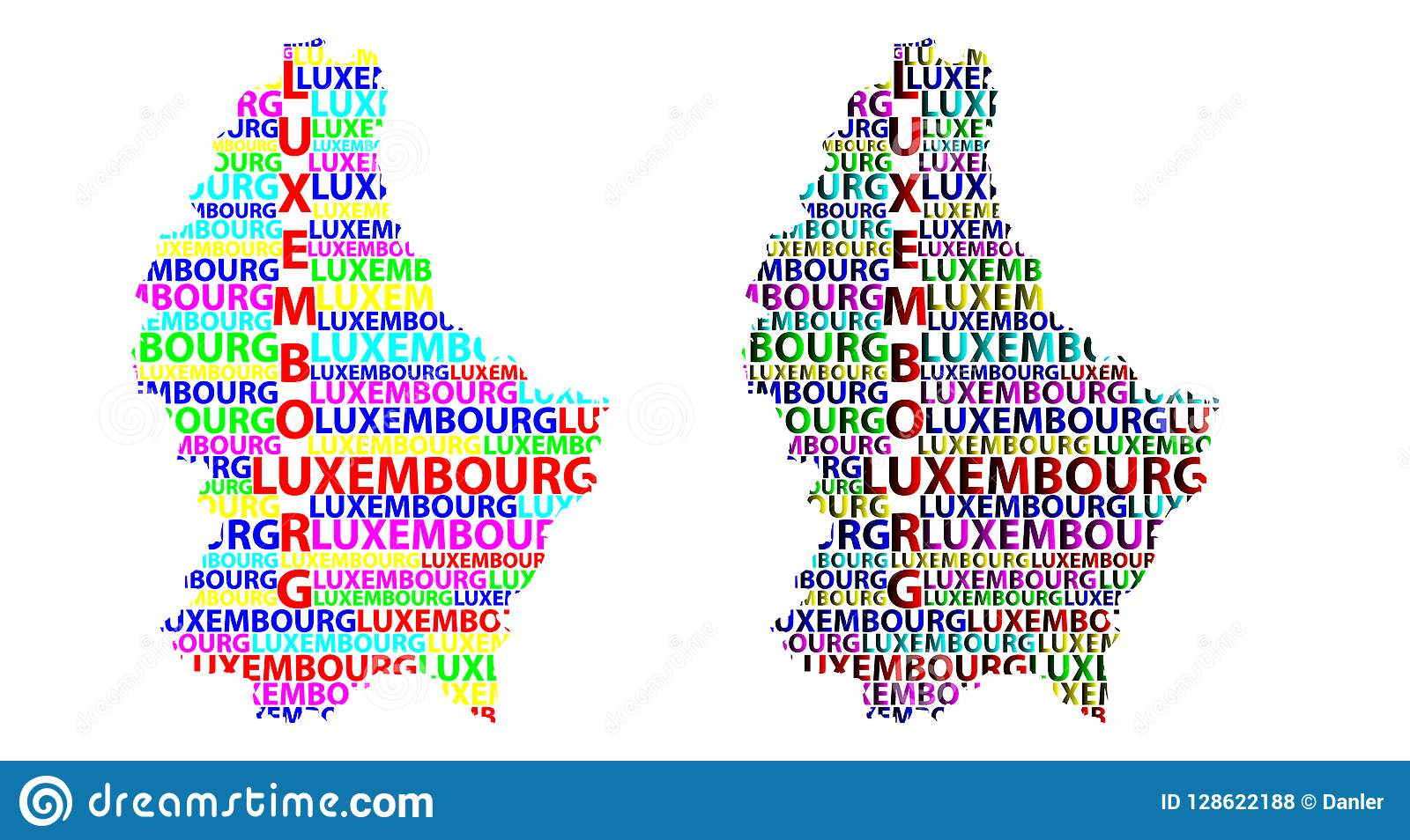 Map Of Luxembourg - Vector Illustration Stock Vector - Illustration ...