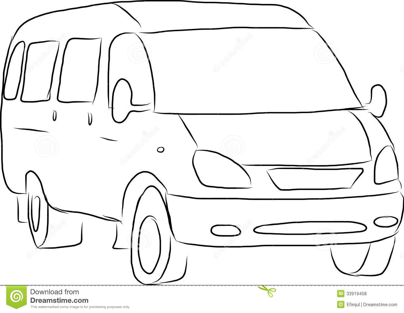 Sketch of a minibus royalty free stock photos image for Sketch online free