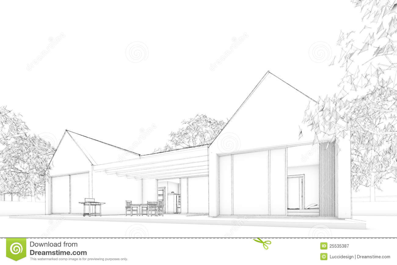 Sketch Of Modern trium House – Situation oyalty Free Stock ... - ^