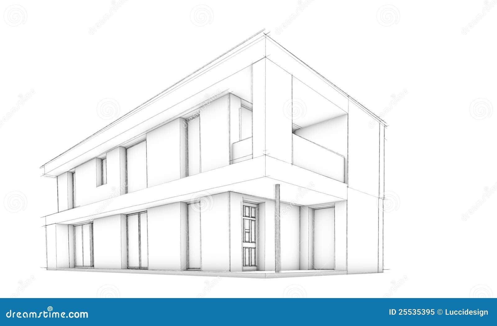 Modern House Drawing Sketch - Modern house sketch