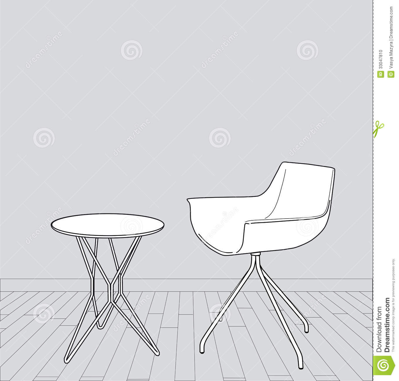 Modern furniture sketches chair sketches - Chair Illustration Interior Modern Sketch Table Vector Exhibition Minimalistic Furniture