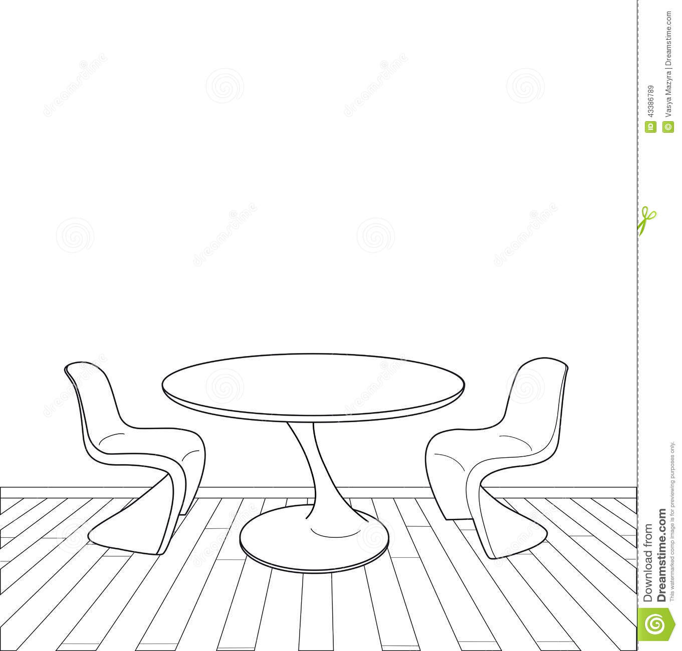 Modern furniture sketches chair sketches - Illustration Interior Modern Sketch