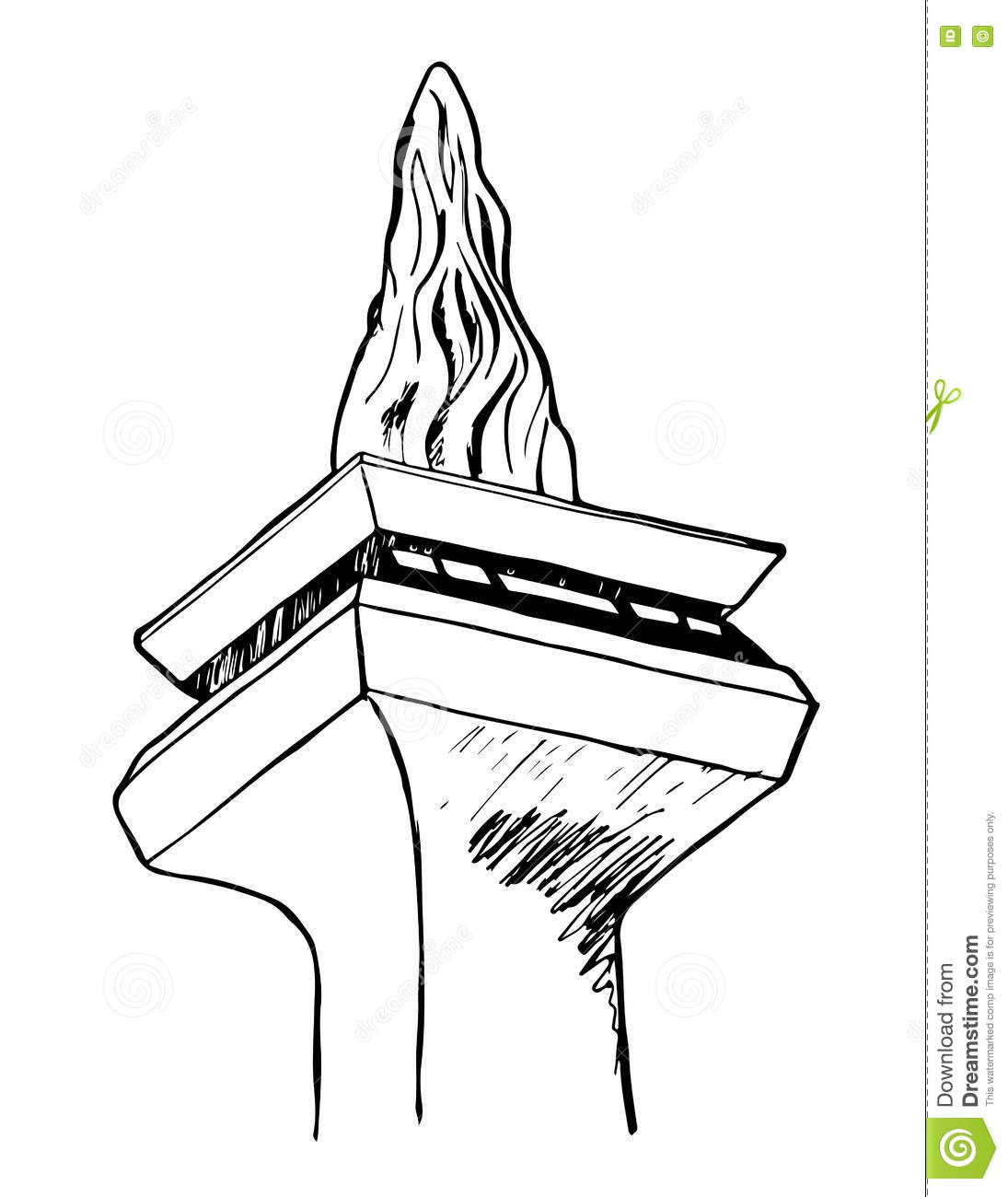 A Sketch Of Monumen Nasional Or Monas In Jakarta Indonesia Stock
