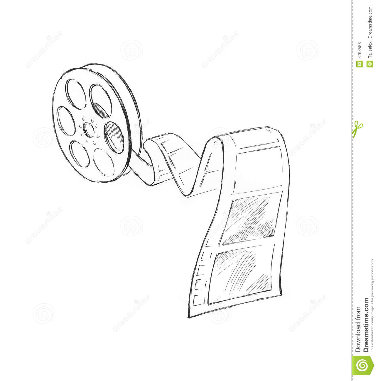 Sketch of movie strip royalty free stock image image for Sketch online free