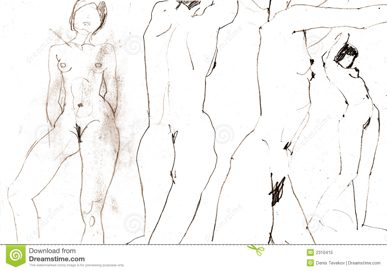 Sketches of beautiful nude women apologise, but