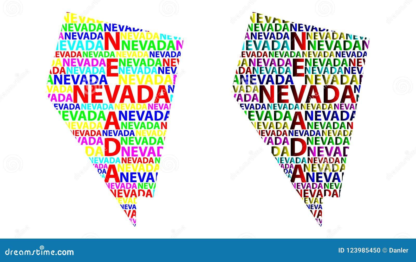 Map Of Nevada Vector Illustration Stock Vector Illustration Of Delineation Nevada 123985450