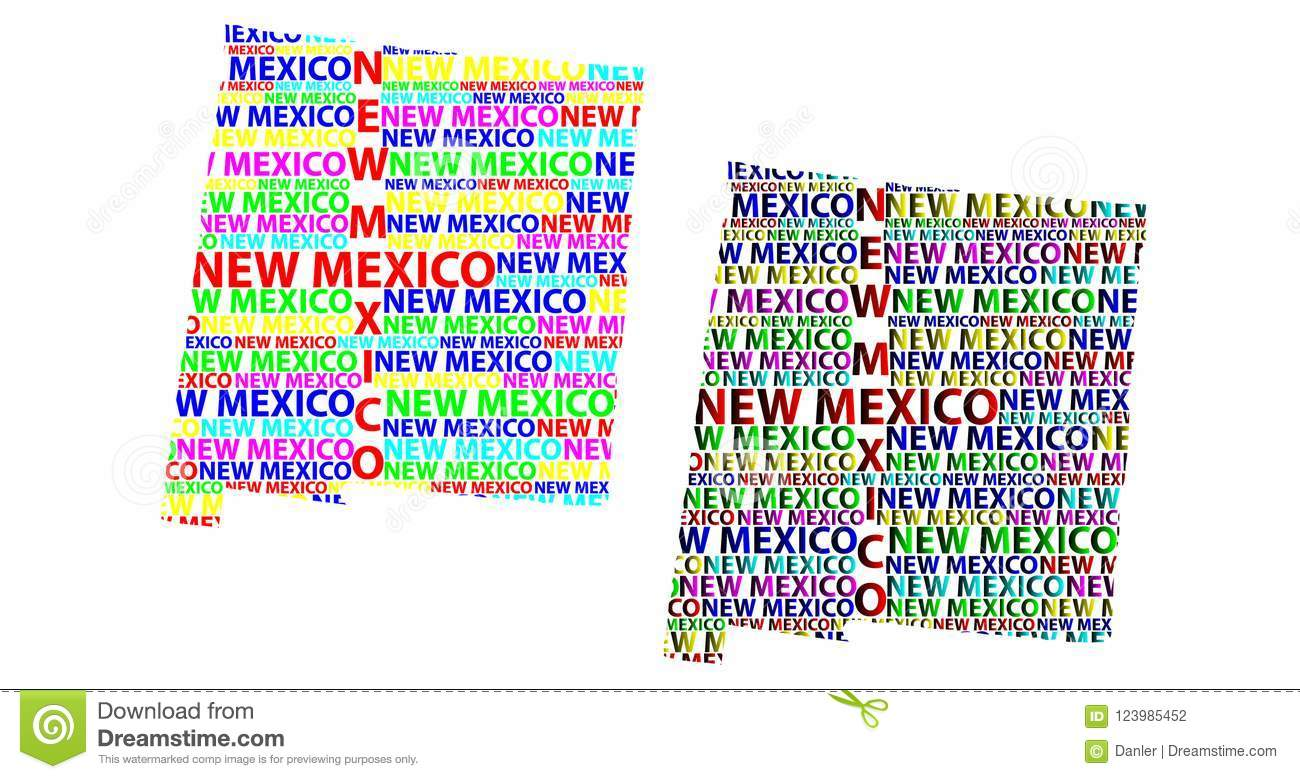 Map Of New Mexico - Vector Illustration Stock Vector - Illustration ...