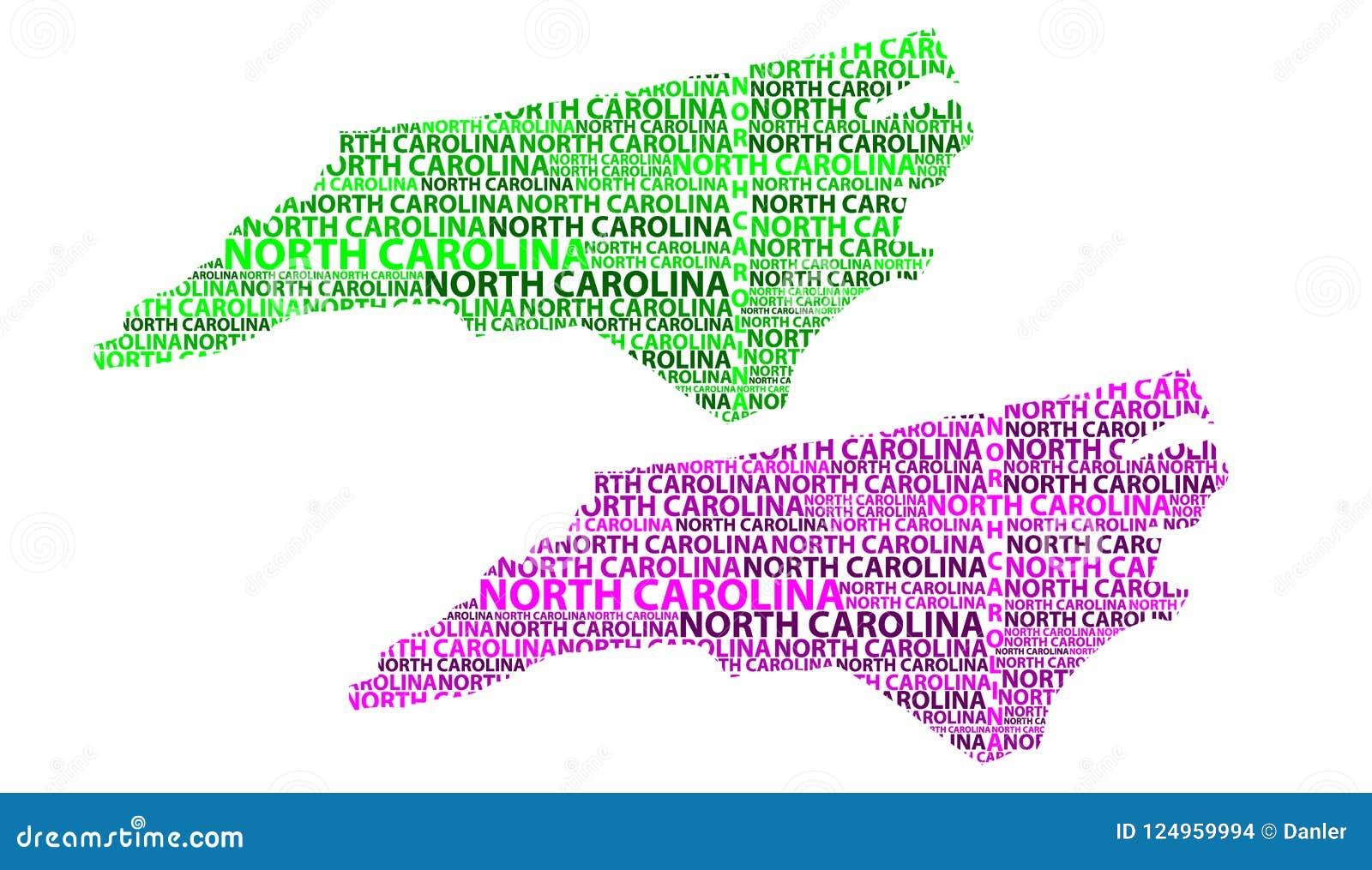 United States Map North Carolina.Map Of North Carolina Vector Illustration Stock Vector