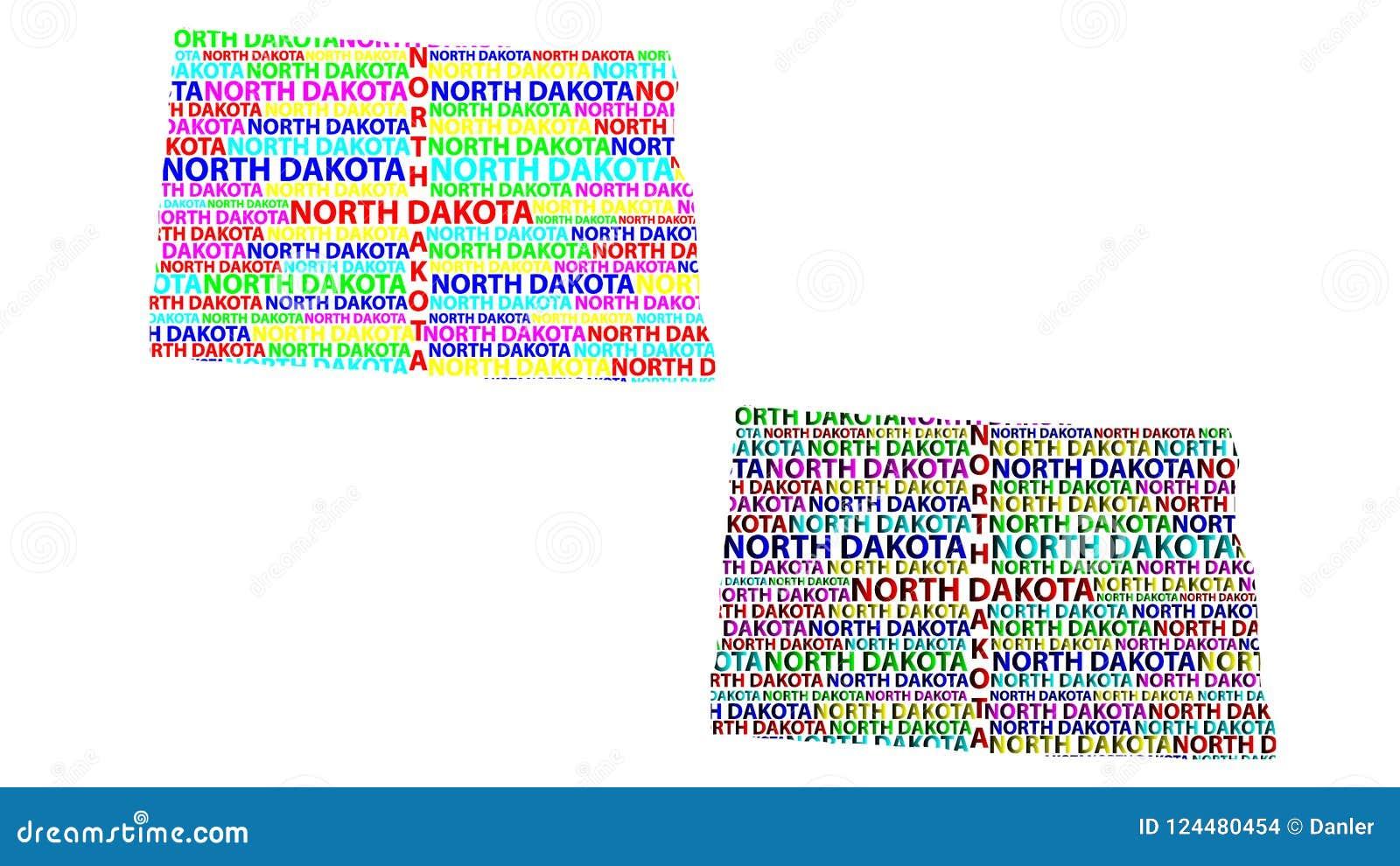 Map Of North Dakota - Vector Illustration Stock Vector ...