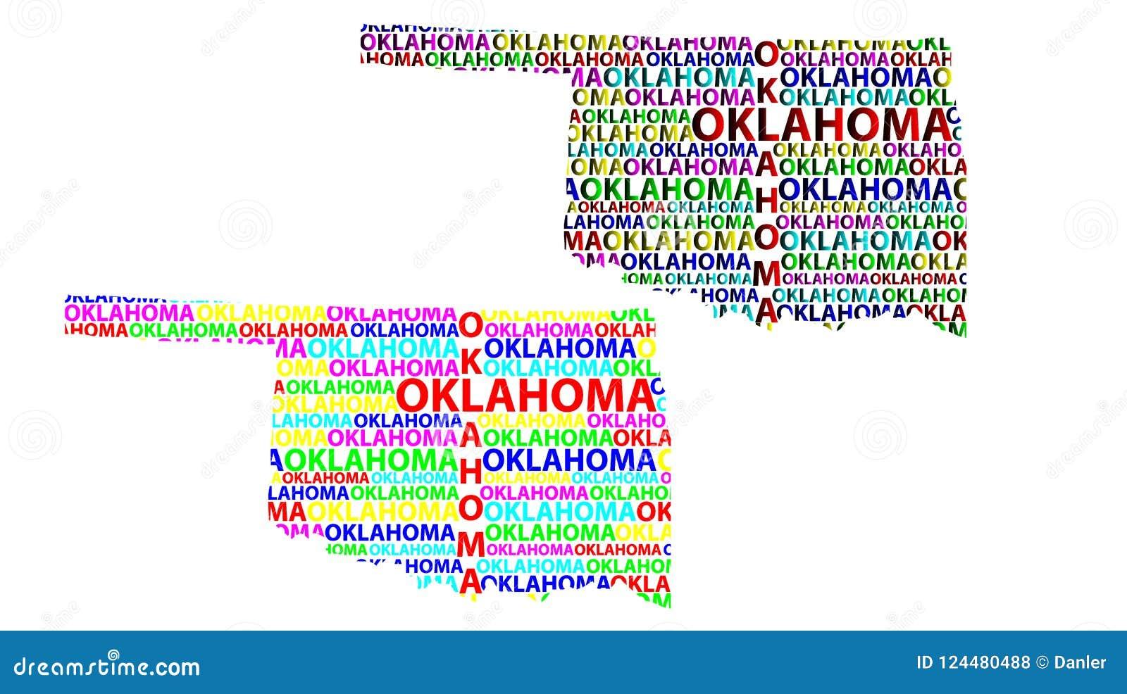 Map Of Oklahoma - Vector Illustration Stock Vector - Illustration of ...