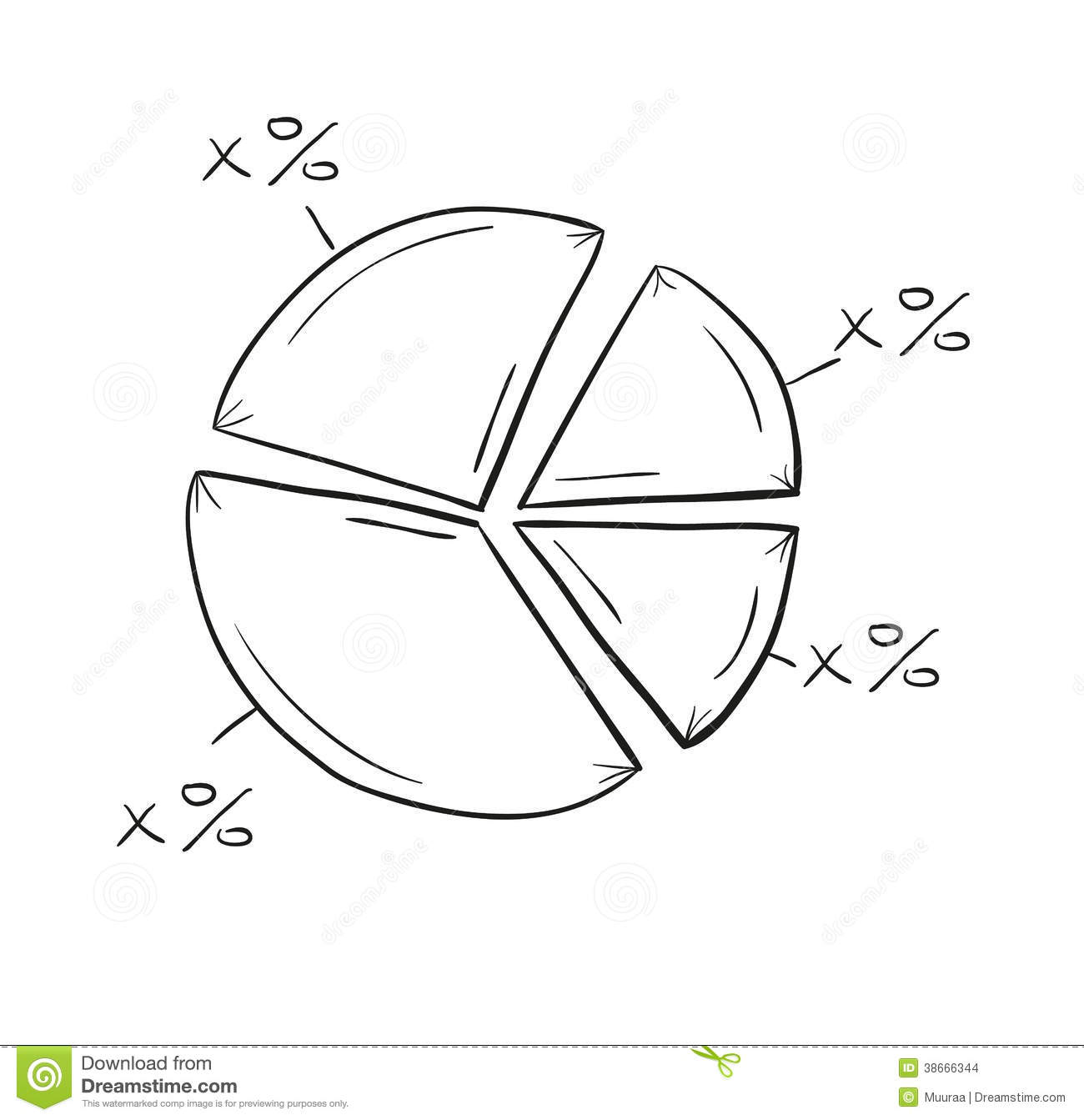 Sketch of the pie chart stock vector illustration of isolated sketch of the pie chart nvjuhfo Image collections