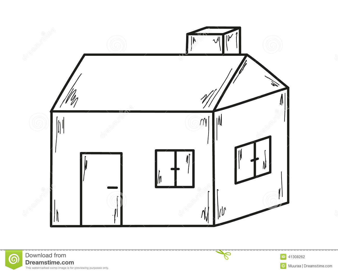 Sketch Of The Small House Stock Vector Image 41308262