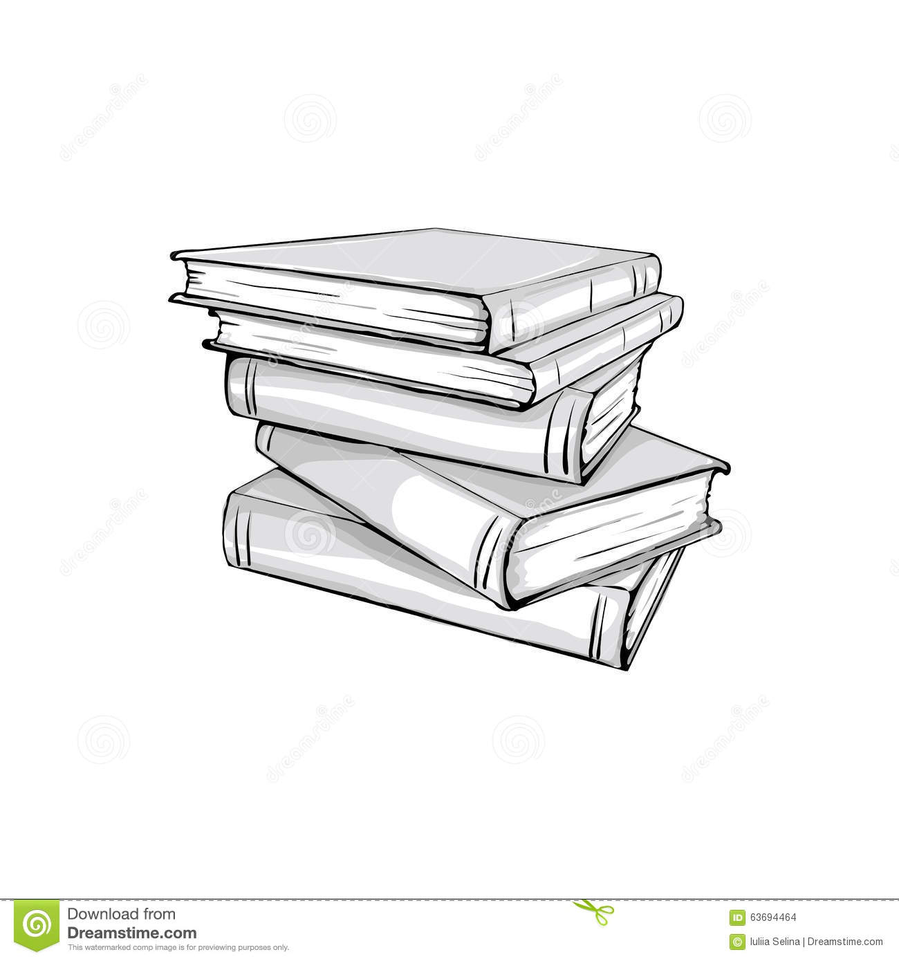 Book Stack Sketch | www.pixshark.com - Images Galleries ...