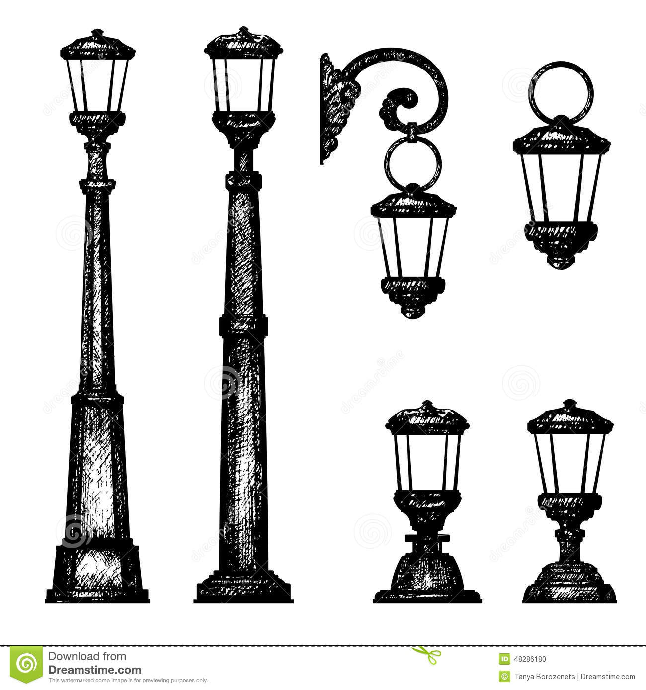 Sketch of street light, stock illustration. Illustration of lines ... for Street Light Drawing  173lyp
