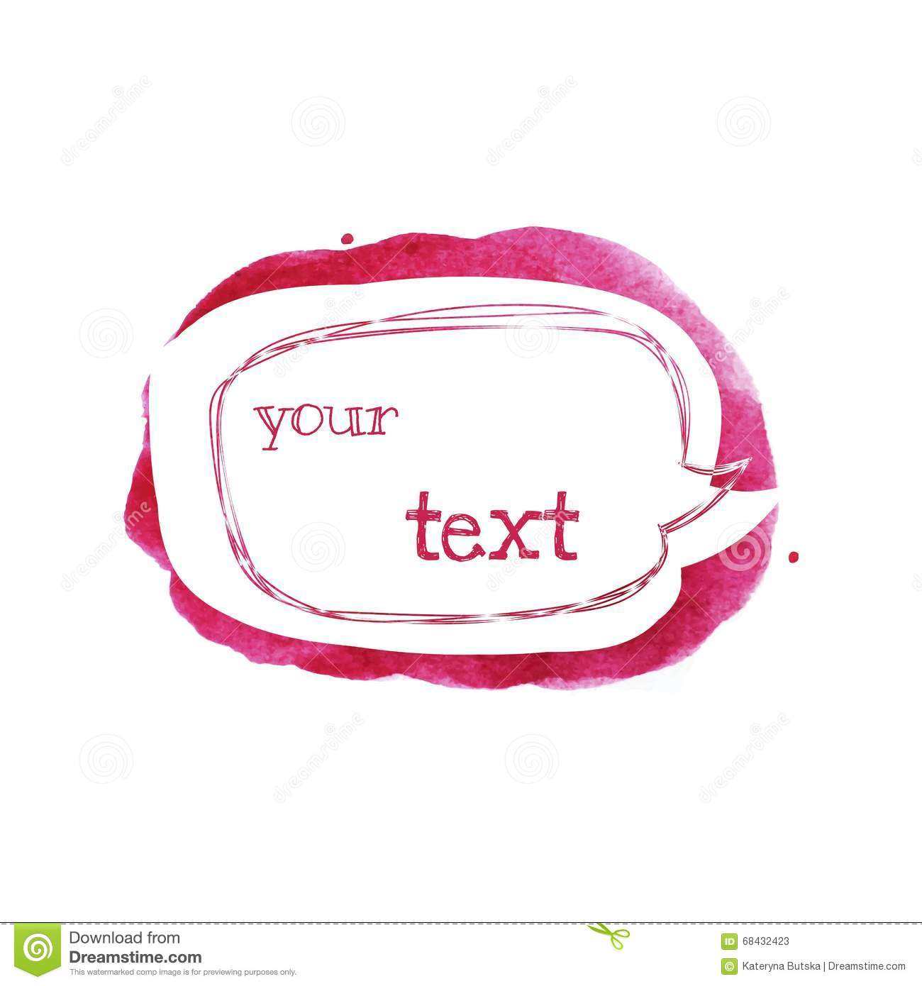 Sketch Style Speech Bubble On Bright Pink Spot. Abstract ...