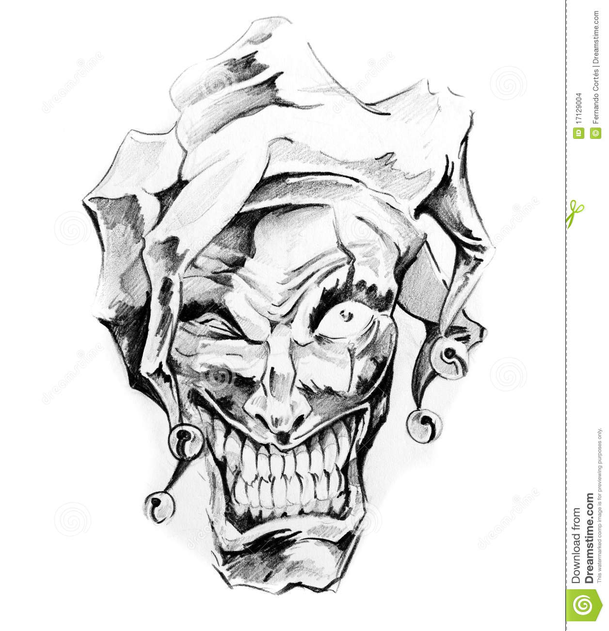 prices on tribal shoulder tattoos 17129004 Image: Of Art, Clown Images Stock  Joker  Tattoo Sketch