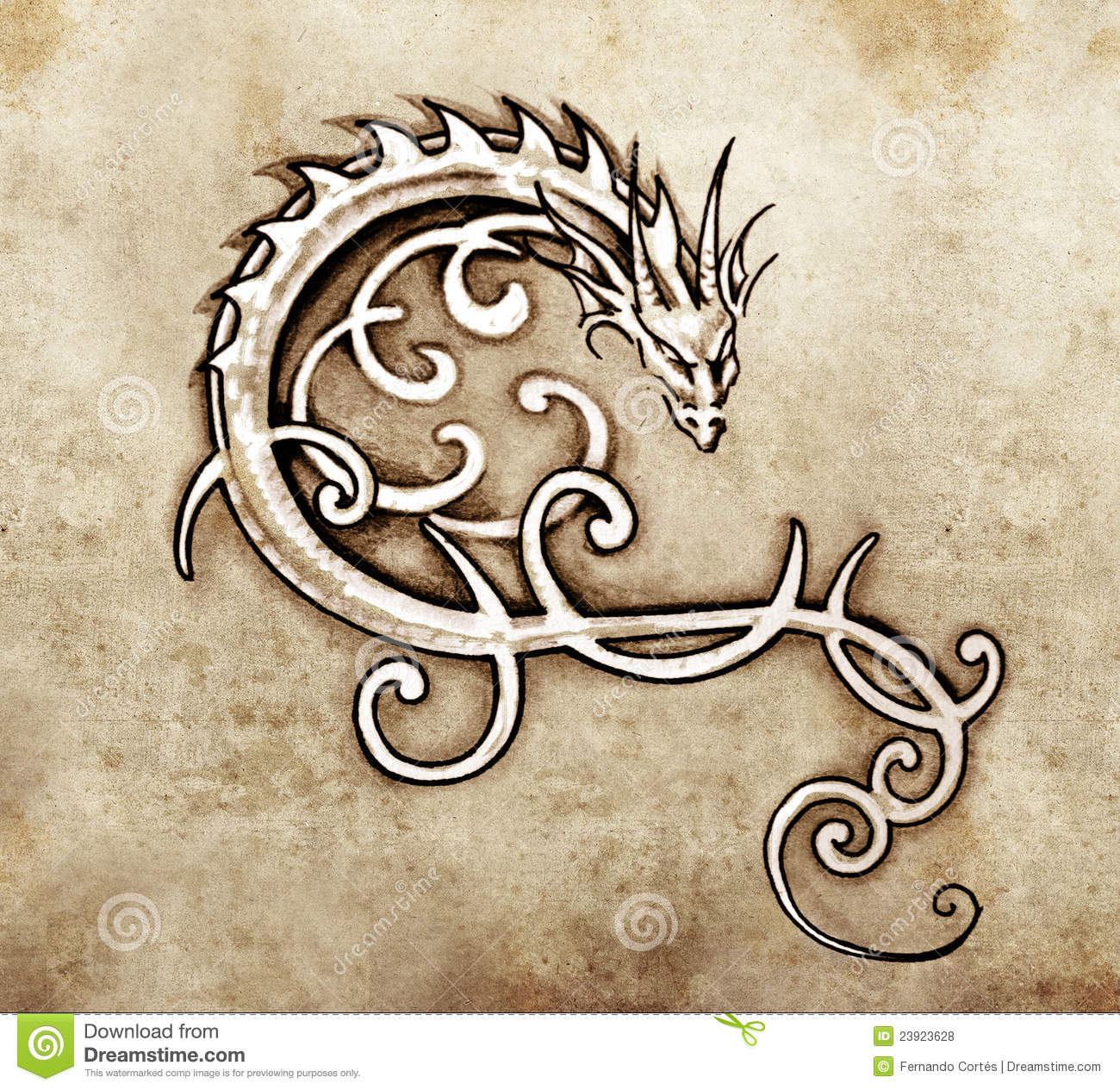 ... Art, Decorative Dragon Royalty Free Stock Photos - Image: 23923628