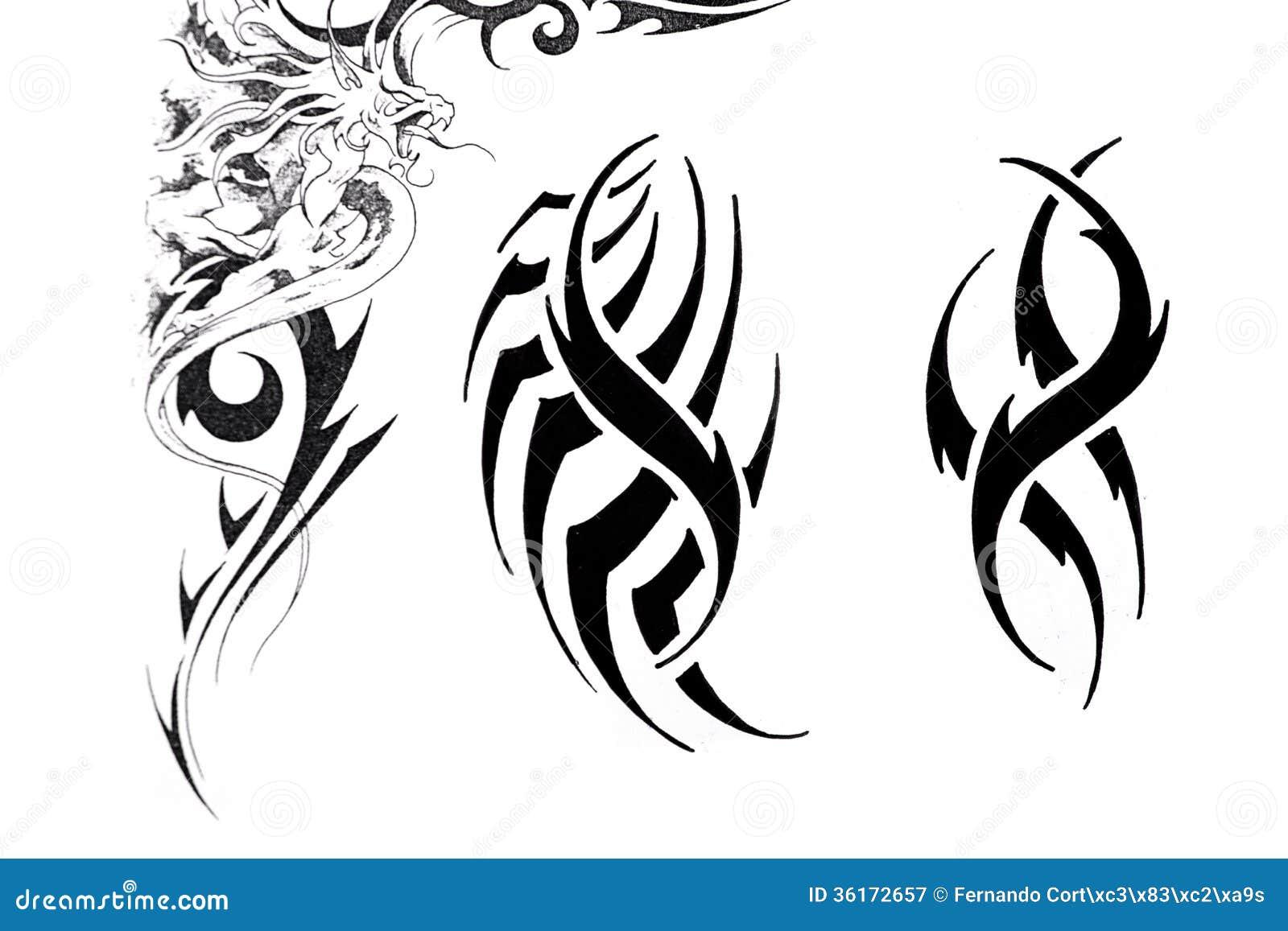 Sketch of tattoo art handmade artistic