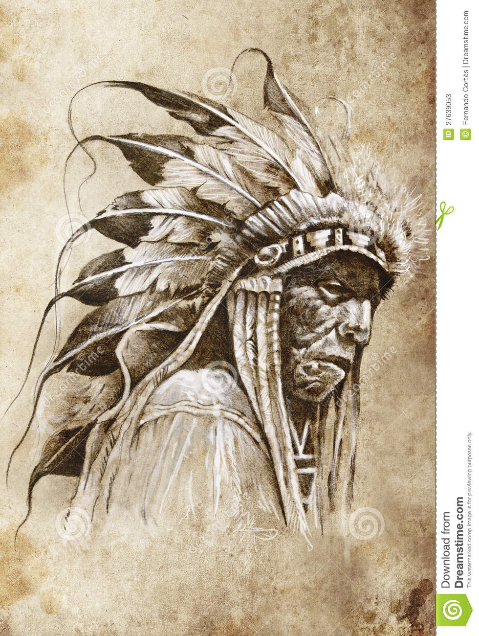 Native American Indian Chief Tattoos