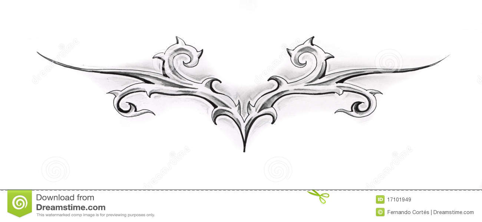 sketch of tattoo art tribal design stock illustration image 17101949. Black Bedroom Furniture Sets. Home Design Ideas