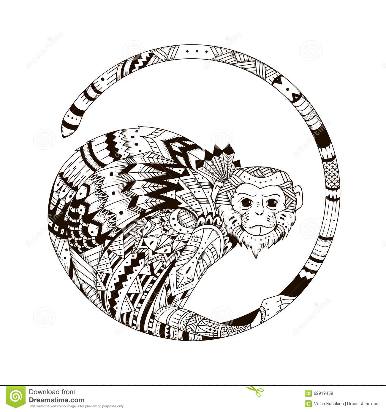 Sketch Of Tattoo Print On A T Shirt Stock Illustration Illustration Of Background Monochrome