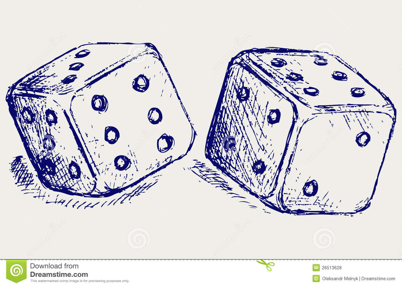Sketch two dices royalty free stock photos image 26513628 for Sketch online free